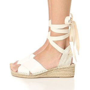 SOLUDOS | Criss Cross Demi Wedge Lace Up Sandals